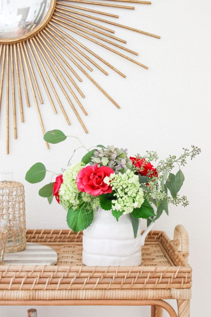 how to arrange grocery store flowers