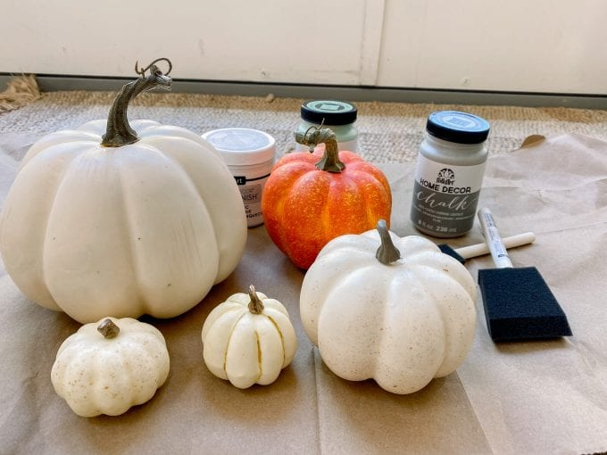 how to make concrete looking pumpkins