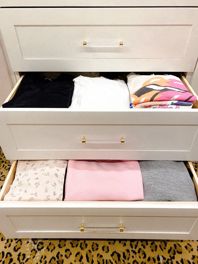 closet drawer organizing ideas