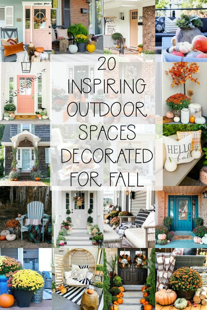 20 outdoor spaces decorated for fall