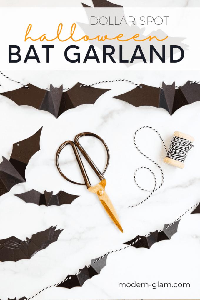 $5 flying bat garland