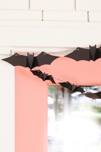 diy halloween door garland