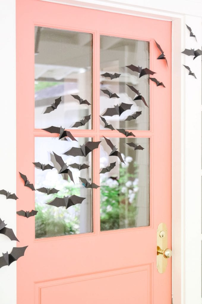 flying bats halloween porch decor