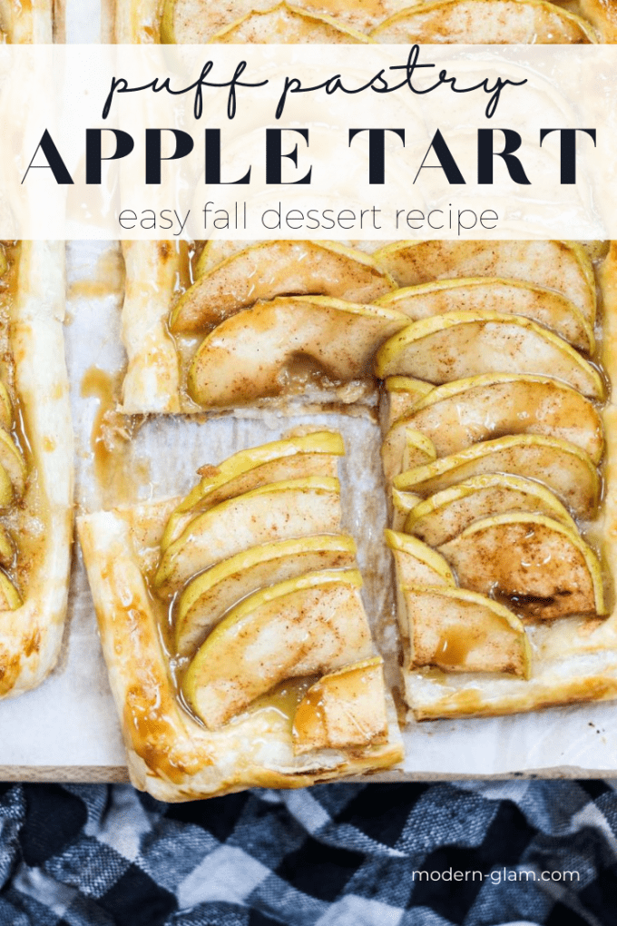 apple tart with puff pastry