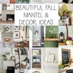 beautiful fall mantel decor