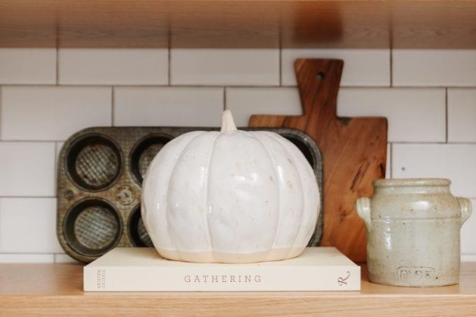 pumpkin in the kitchen