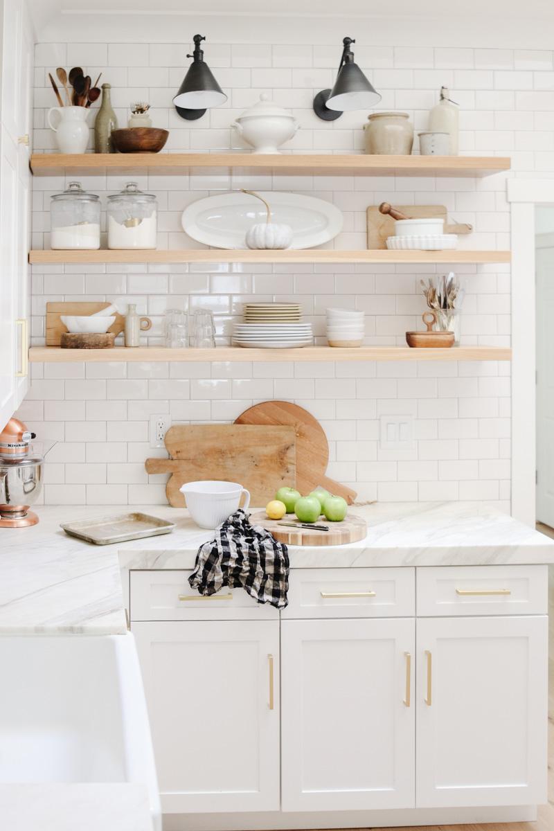 Kitchen Shelf Styling Ideas For Fall Modern Glam