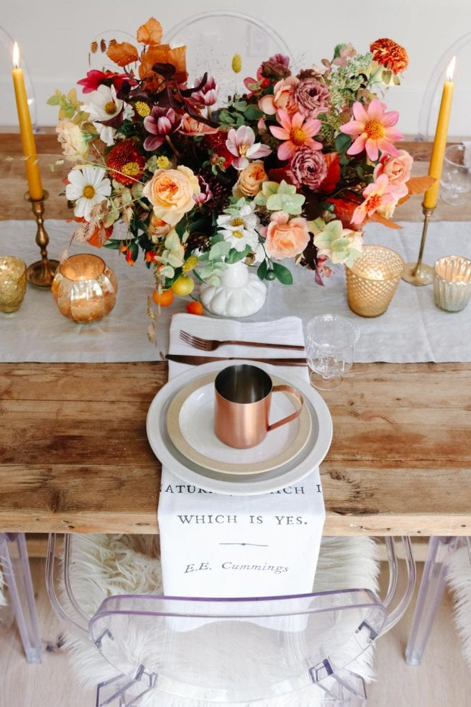 simple thanksgiving place setting idea