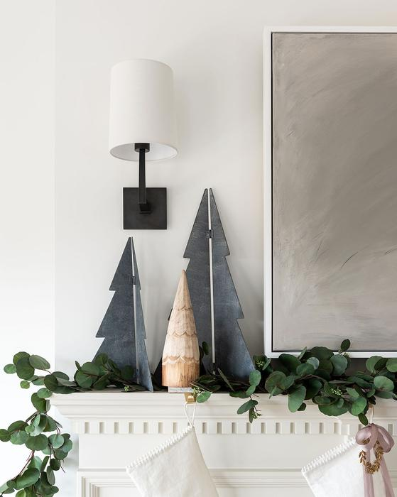 metal trees for the mantel