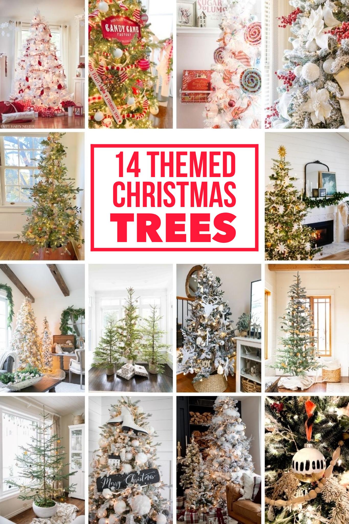 14 themed Christmas trees via @modernglamhome