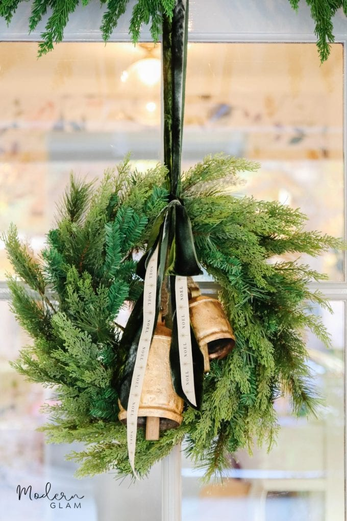 super easy christmas wreath DIY