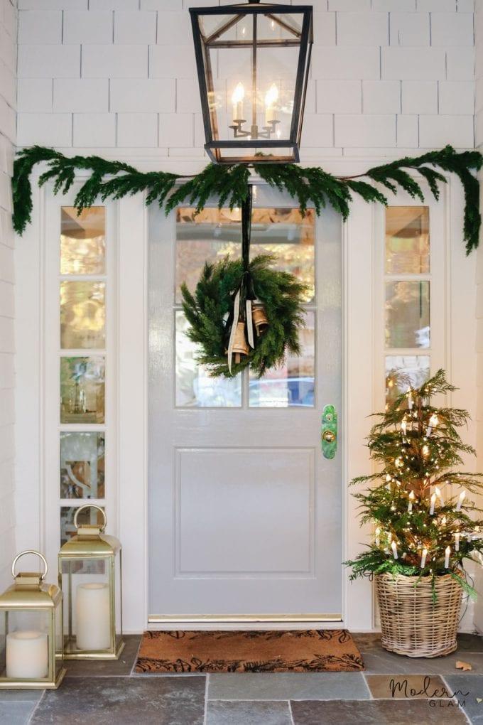 classy christmas porch