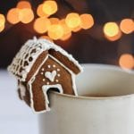 mini gingerbread house mug toppers
