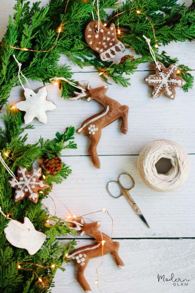 salt dough ornaments made with essential oils