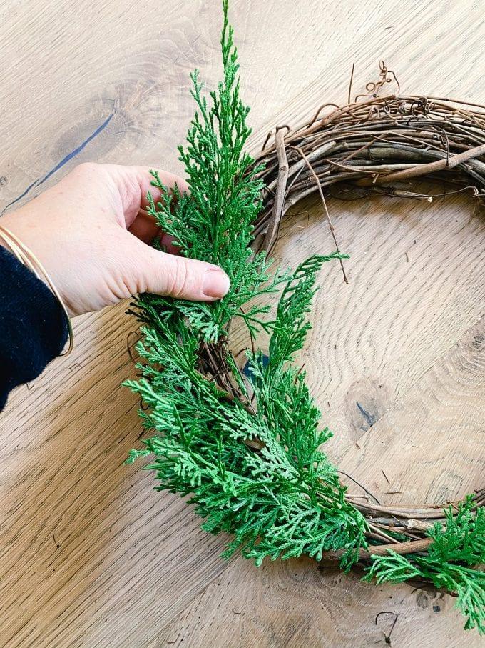 how to make a demi cedar wreath