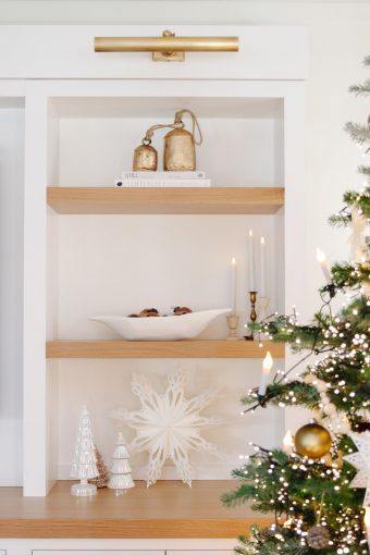 christmas shelf styling