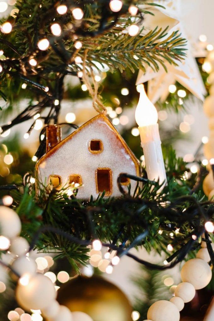 ceramic house ornament