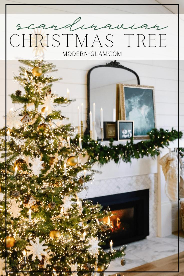 christmas tree decorating ideas via @modernglamhome