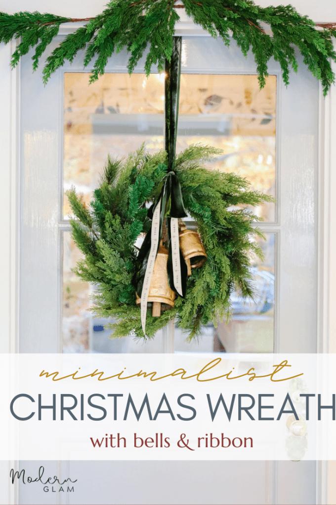 minimal christmas wreath DIY idea