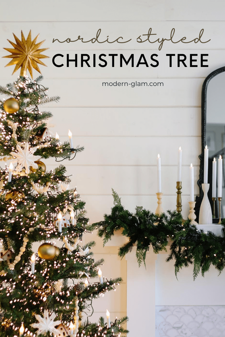 how to decorate your christmas tree via @modernglamhome