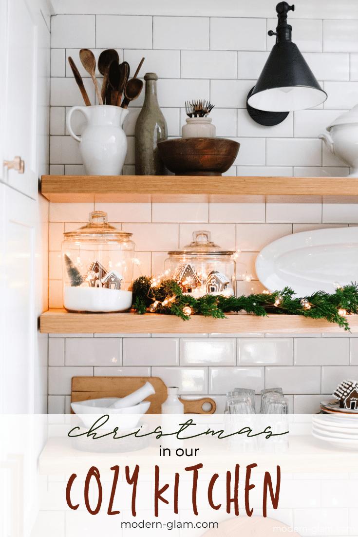 cozy christmas kitchen via @modernglamhome