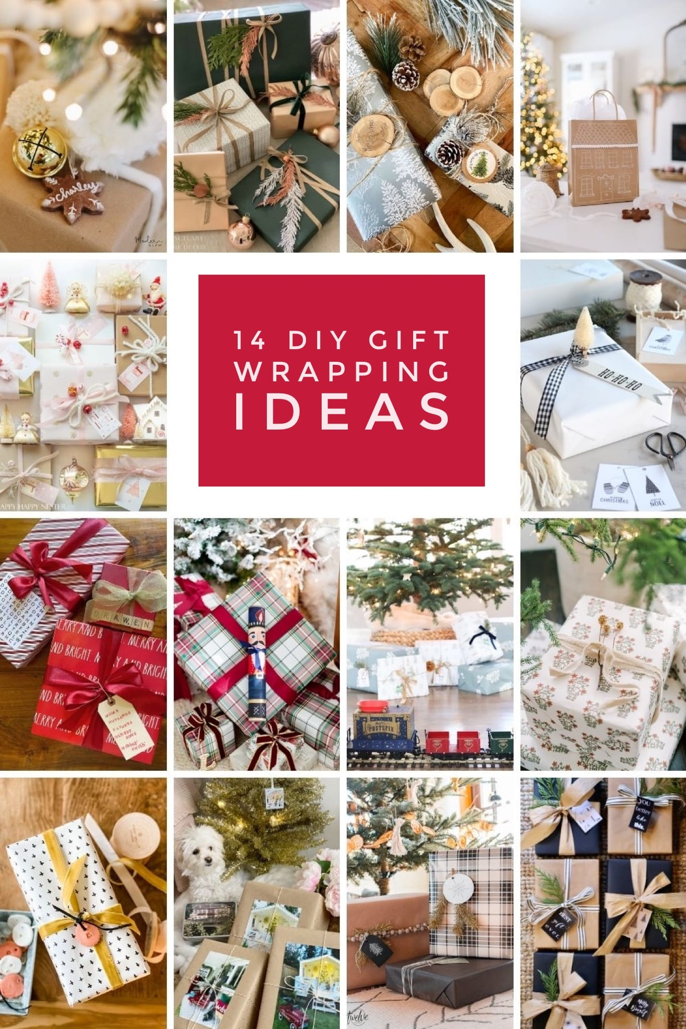 diy gift wrapping ideas for the holidays via @modernglamhome
