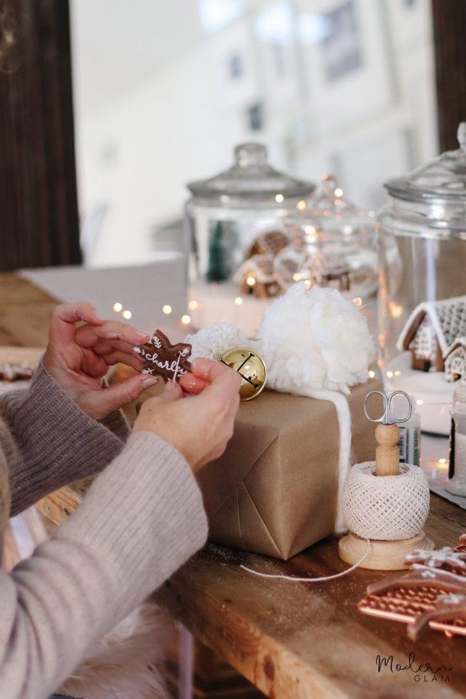 salt dough ornament gift tags
