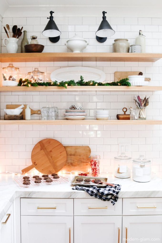 kitchen open shelving decorating ideas