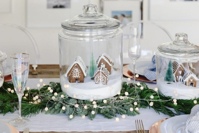gingerbread centerpiece table idea