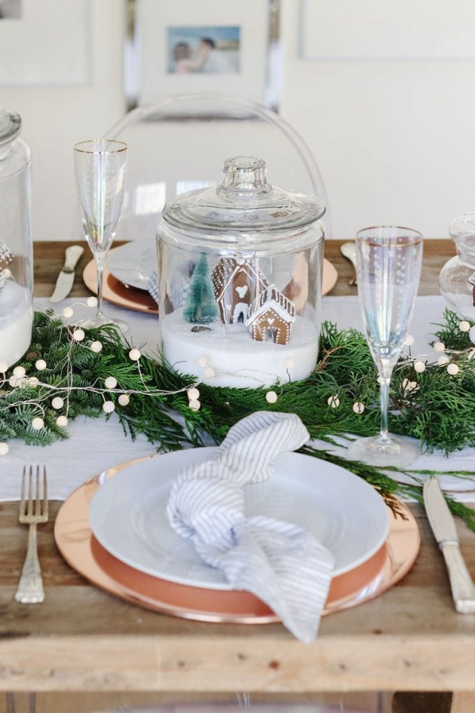 gingerbread table setting idea