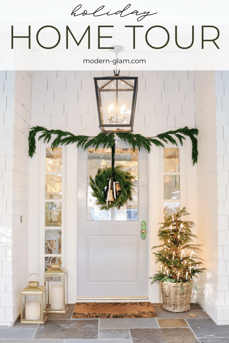 holiday home tour 2020 via @modernglamhome