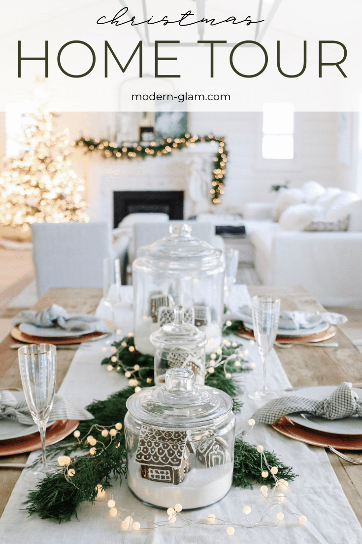 christmas home tour 2020 via @modernglamhome