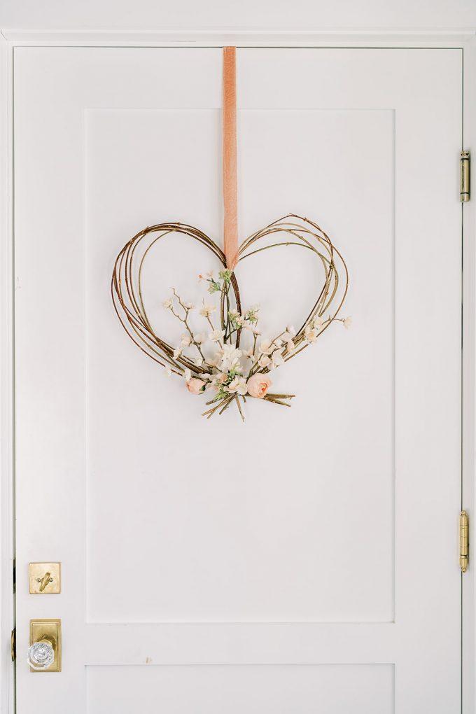 natural heart shaped wreath