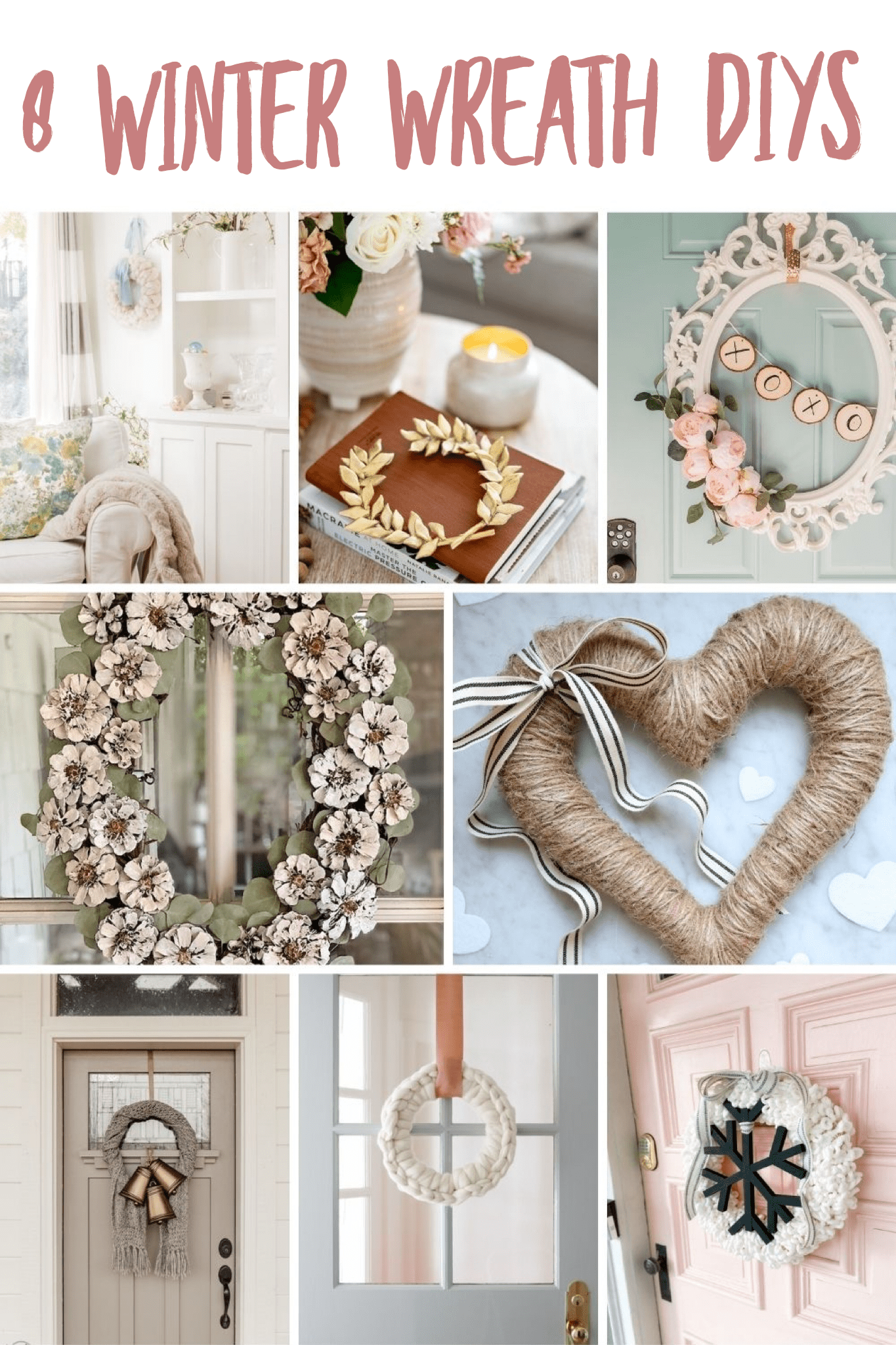8 winter diy wreaths via @modernglamhome