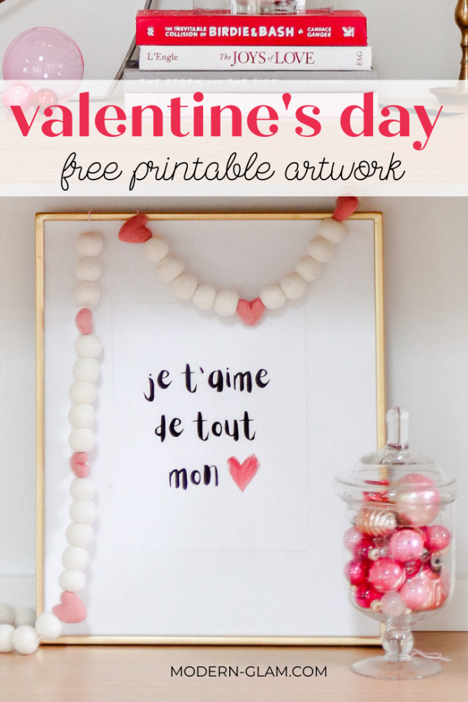 free printable art for valentine's day