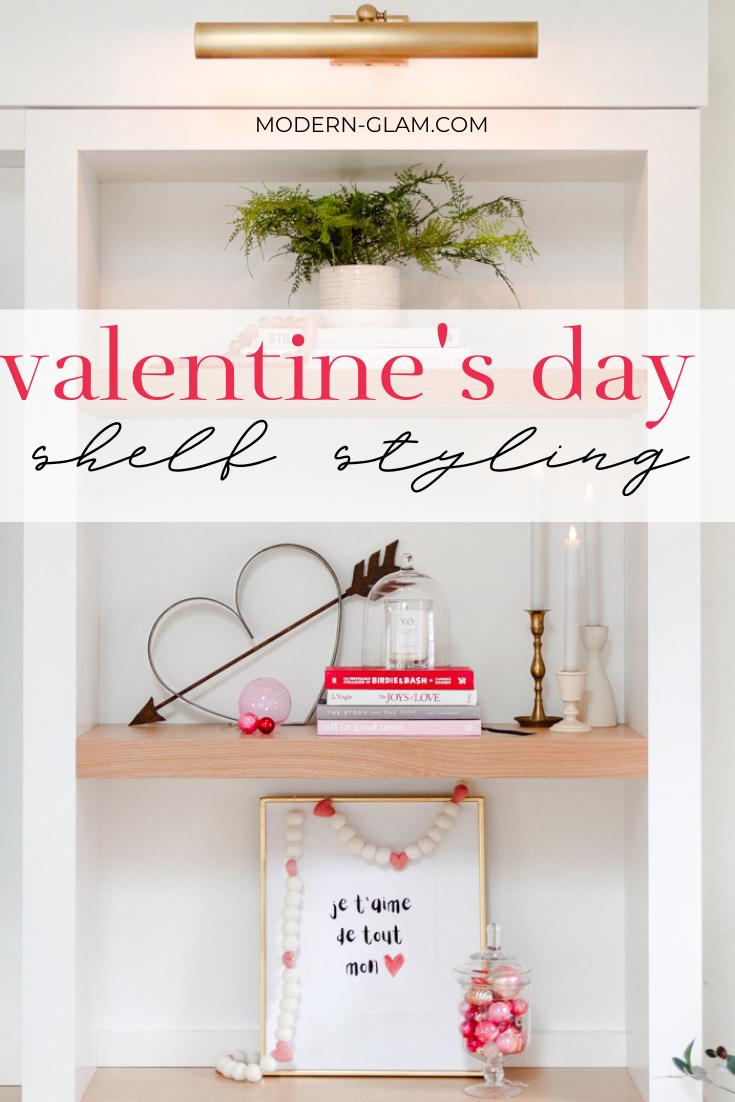modern Valentine's Day decor via @modernglamhome