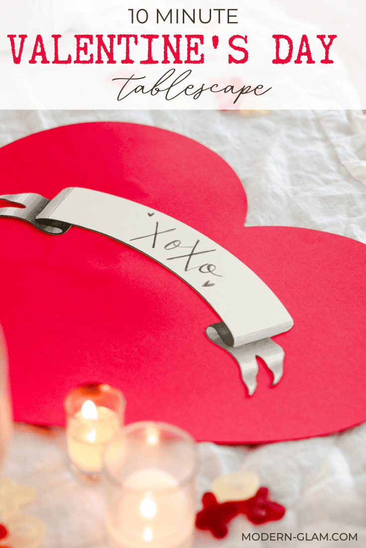 10 minute valentines tablescape idea via @modernglamhome