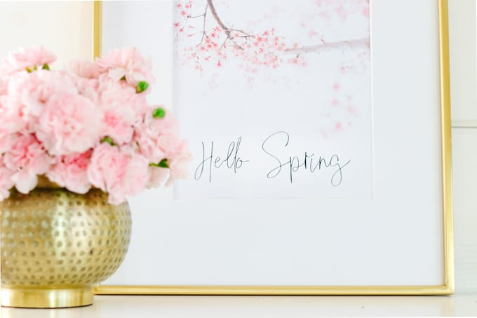 cherry blossom printable art