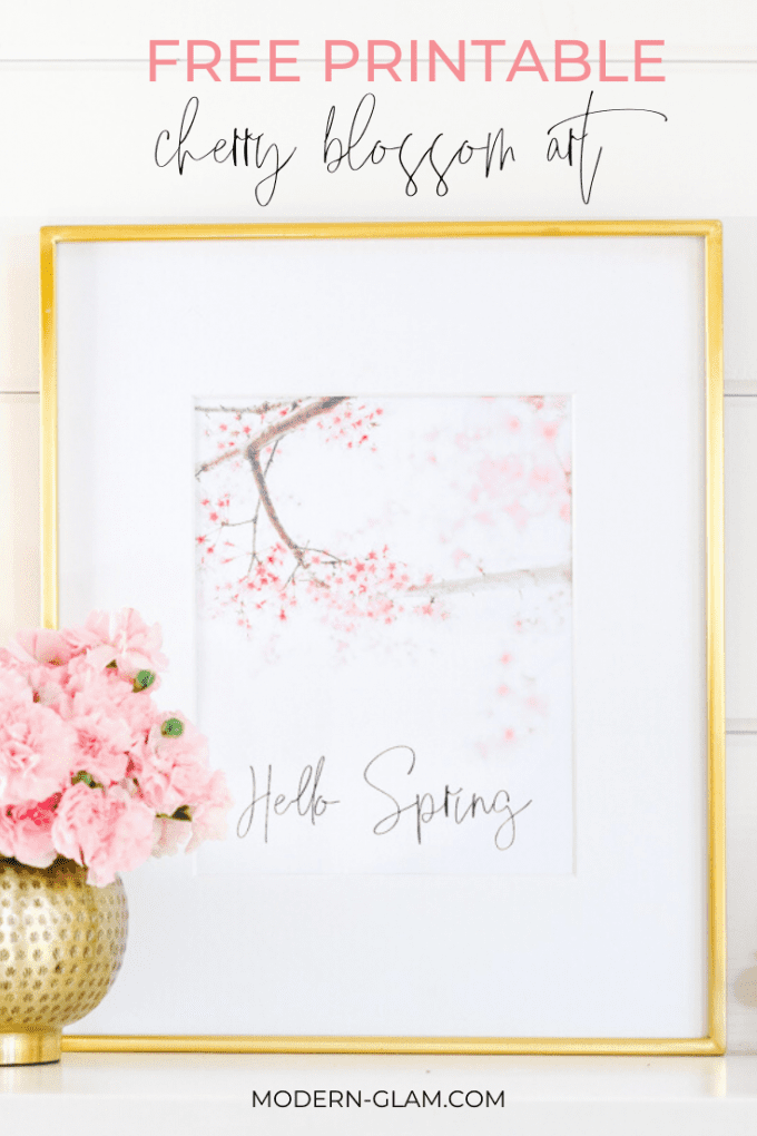 cherry blossom free printable