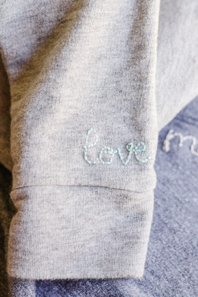 how to hand embroider clothing