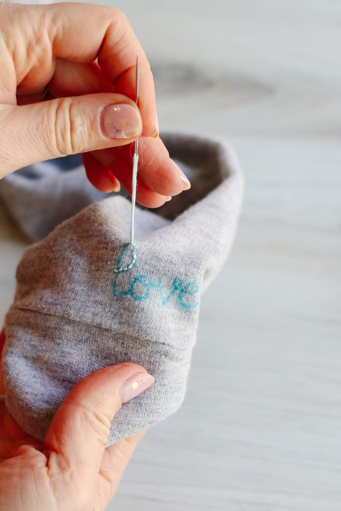 how to embroider a sweatshirt