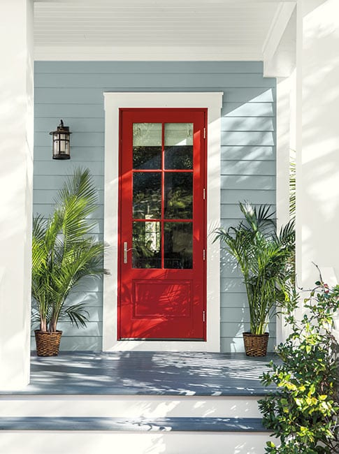 red paint colors for front door