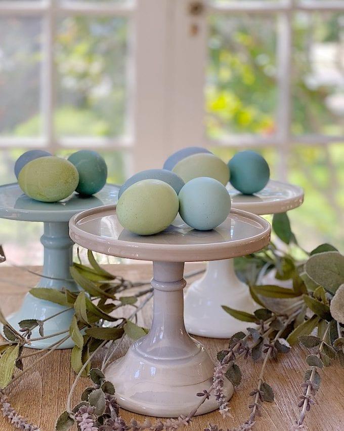 how to dye easter eggs like araucana chicken eggs
