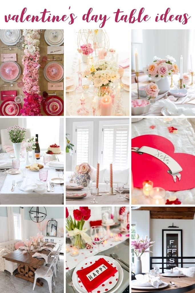 10 Minute Valentines Tablescape via @modernglamhome