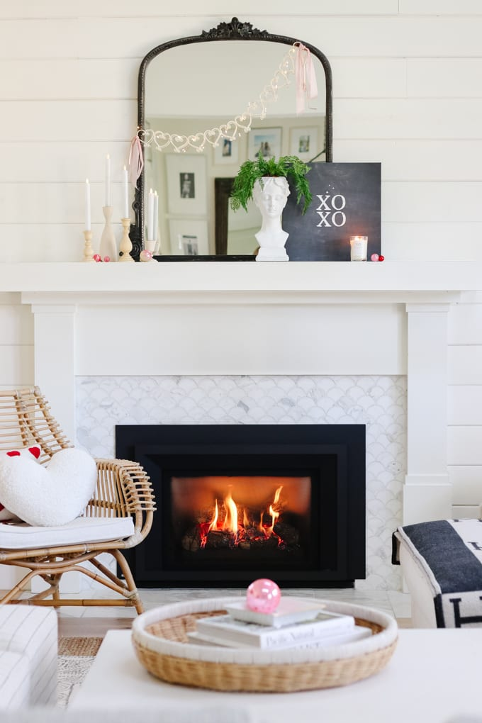 valentine's day mantel ideas