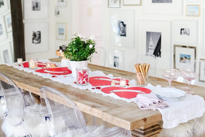 10 minute tablescape for valentine's day