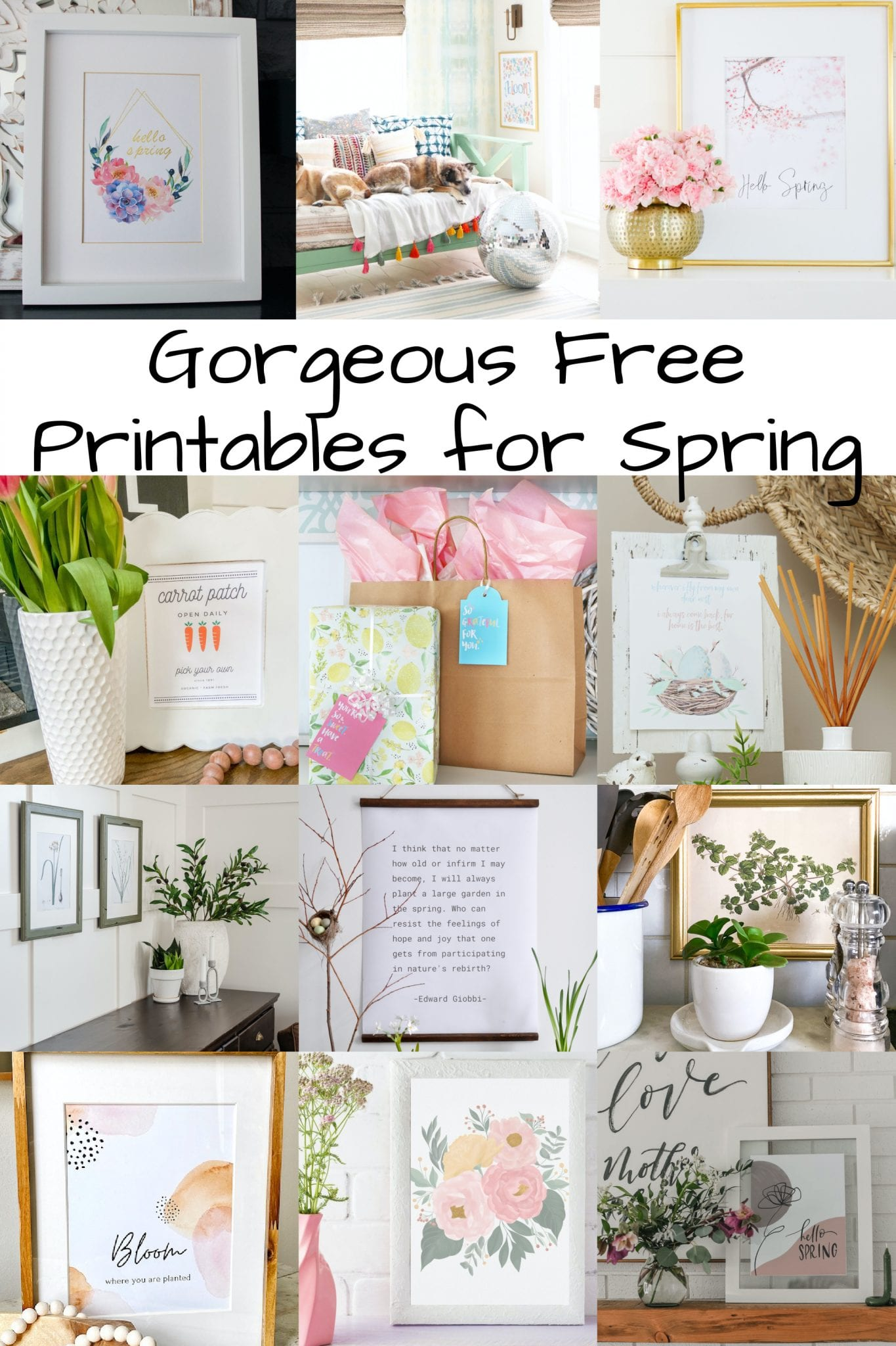 free spring printables for your home via @modernglamhome