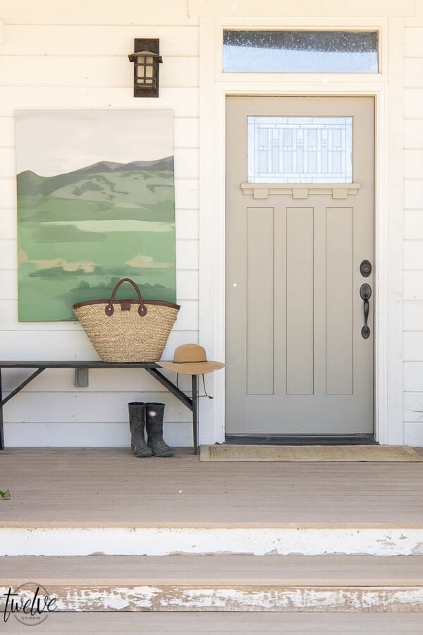 gray front door paint colors