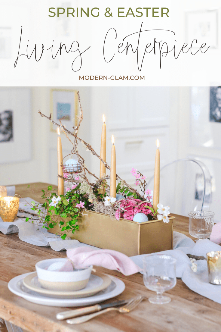 living centerpiece for easter via @modernglamhome