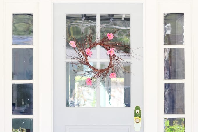 Spring Wreath craft Idea
